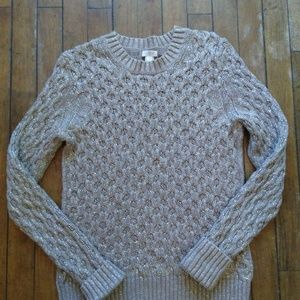 J. Crew Gold Cable Knit Sweater Small K
